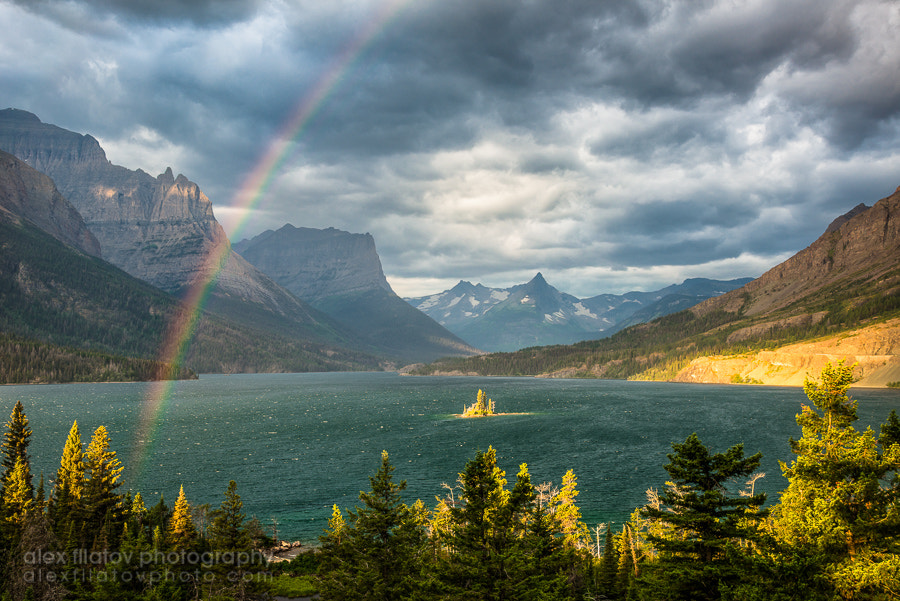 Photograph Rainbow Over Wild Goose Island by Alex Filatov | alexfilatovphoto.com on 500px