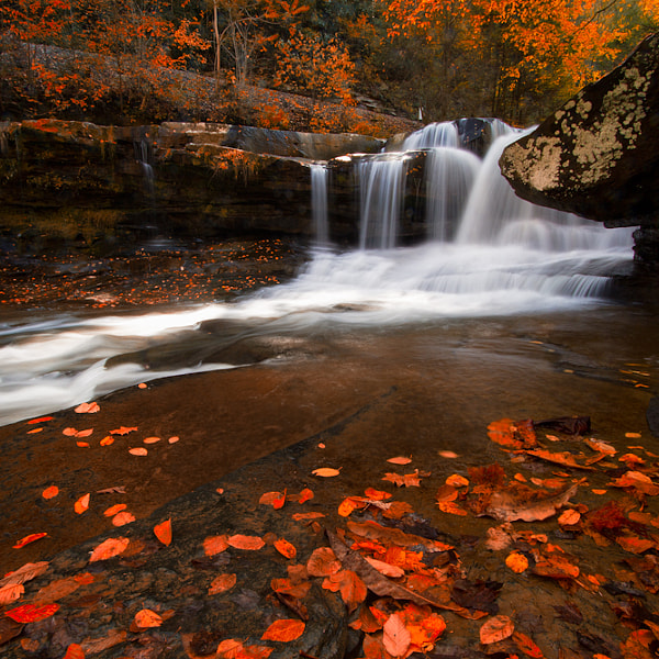 The Dunloup Creek Falls - Autumn