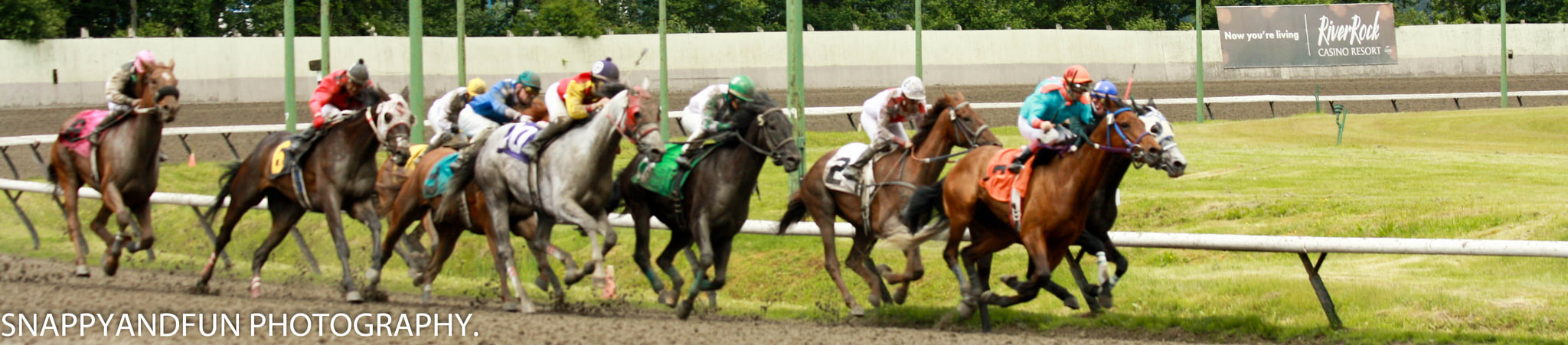 Photograph Nine Horses Heading To the Finish. by Ronald Campbell on 500px