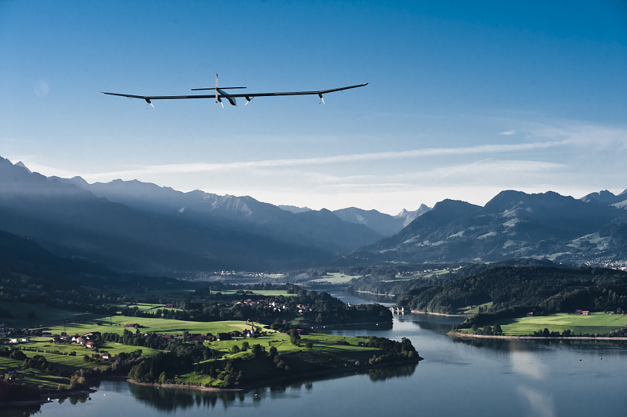 Solar Impulse 1 Above Switzerland by SOLAR IMPULSE on 500px.com