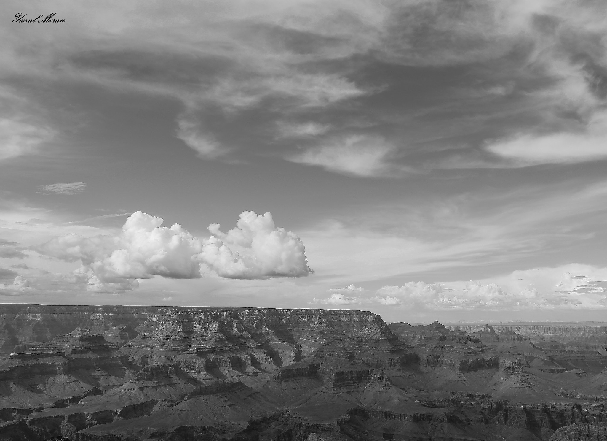 Photograph B&W Grand Canyon by Yuval Moran on 500px