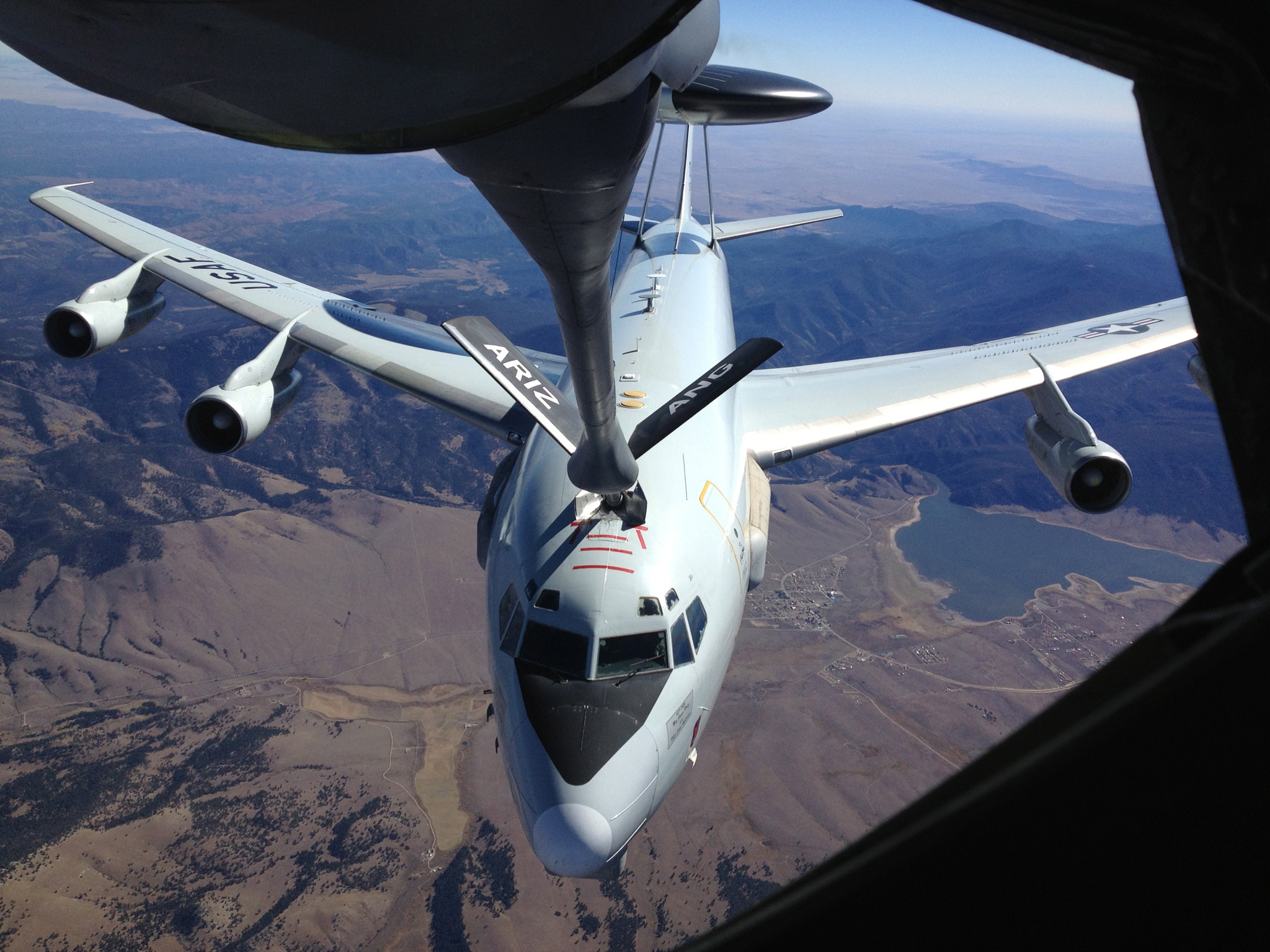 Photograph AWACS Refueling by Johnny Smith on 500px