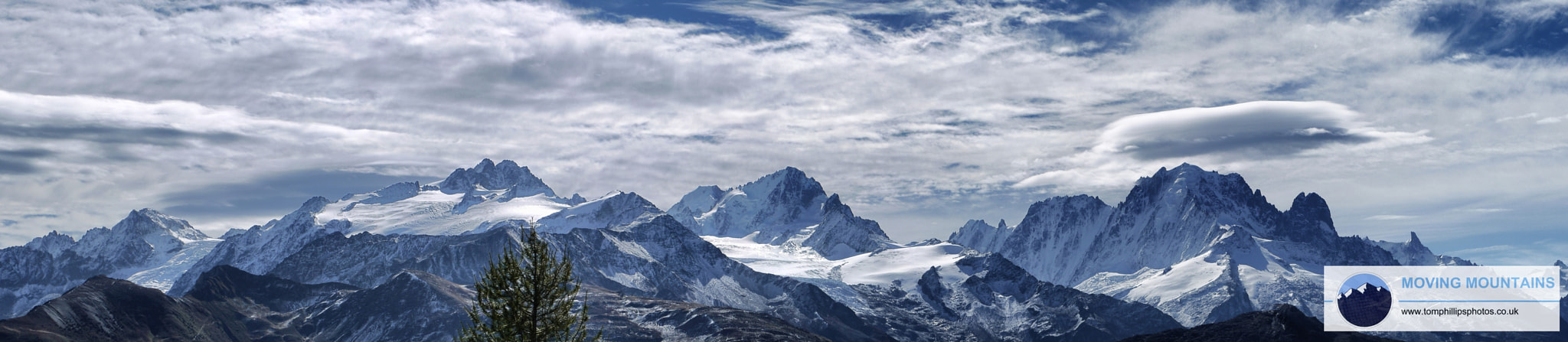 Photograph Eastern Mont Blanc Massif from the North by Tom Phillips on 500px