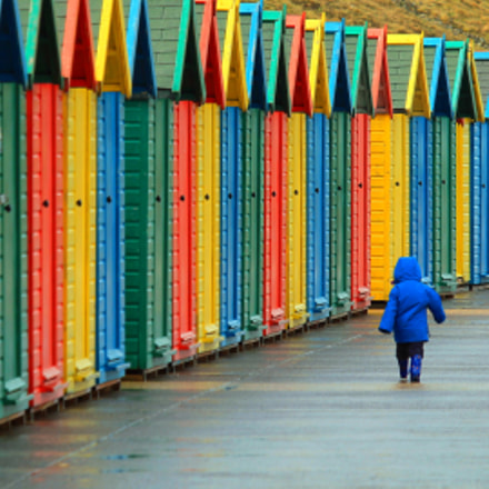 beach huts, Canon EOS 1100D, EF-S55-250mm f/4-5.6 IS STM