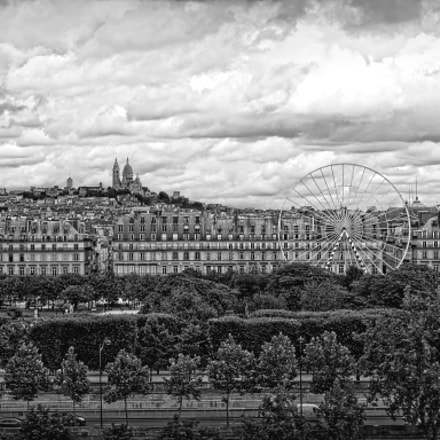 Looking out across Paris, Sony DSC-QX100, Sony 28-100mm F1.8-4.9