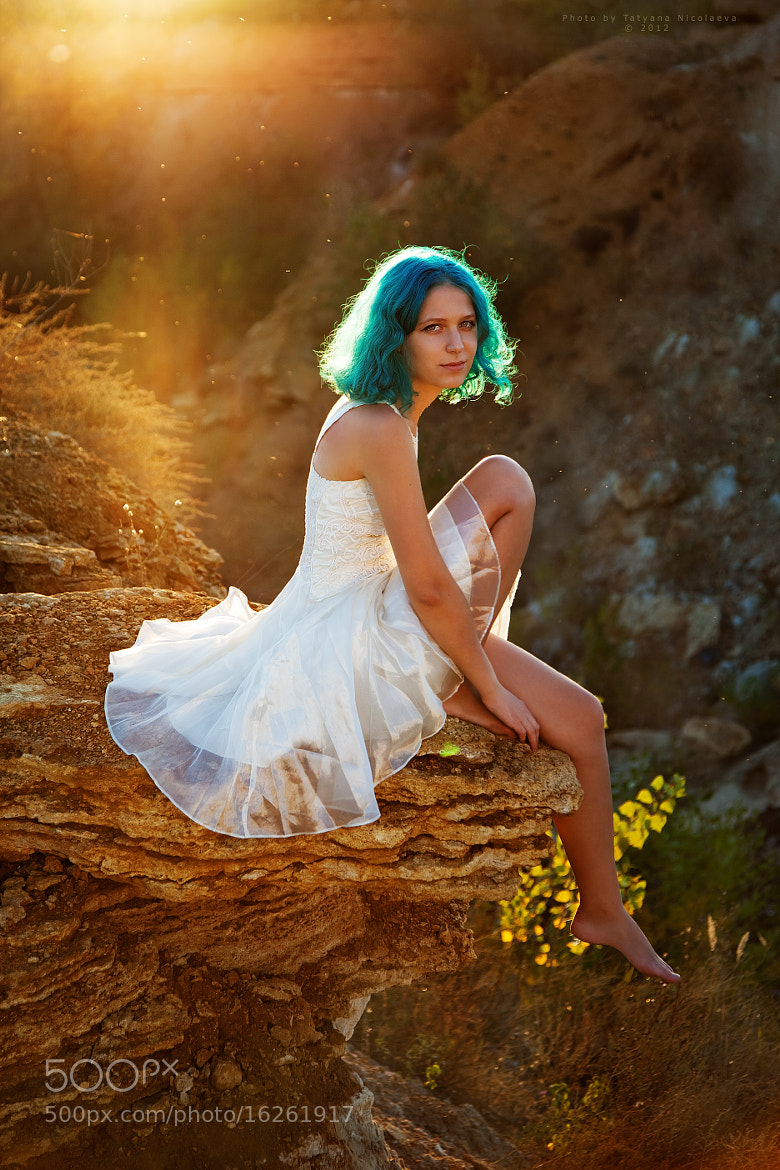 Photograph Girl with blue hair... by Tanya Nicolaeva on 500px