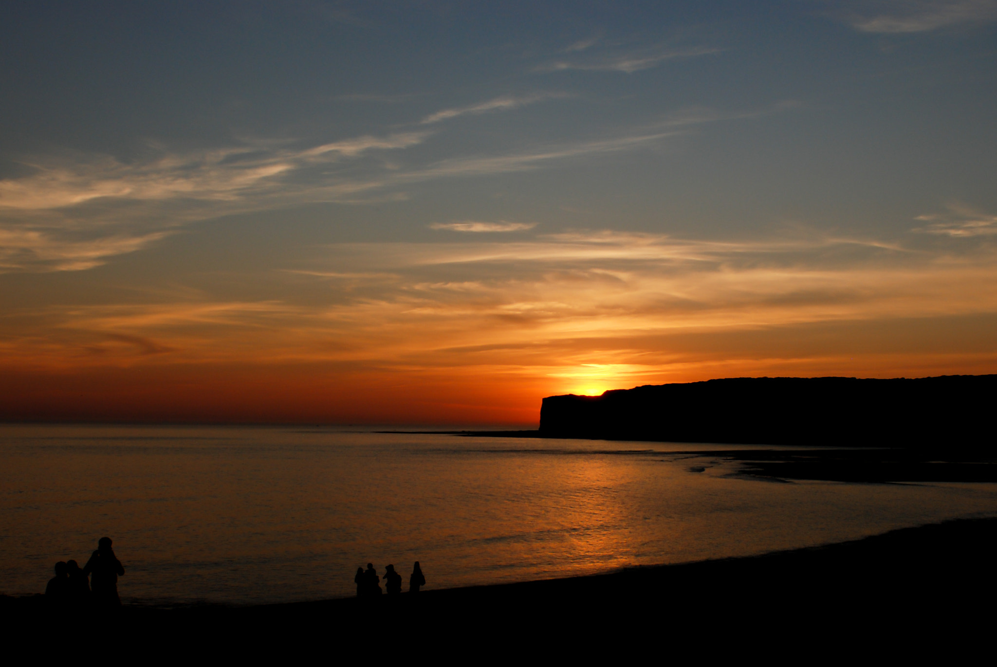 Photograph Sunset over chalky cliffs near Seaford by Hubert Mical on 500px