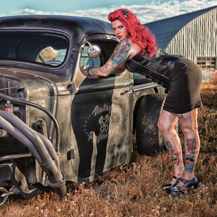 Nathalie and her Rat Rod