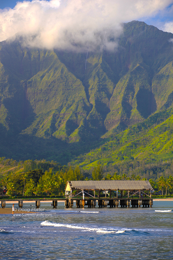 Photograph Hanalei Mountains and Pier  by Doug Porter on 500px