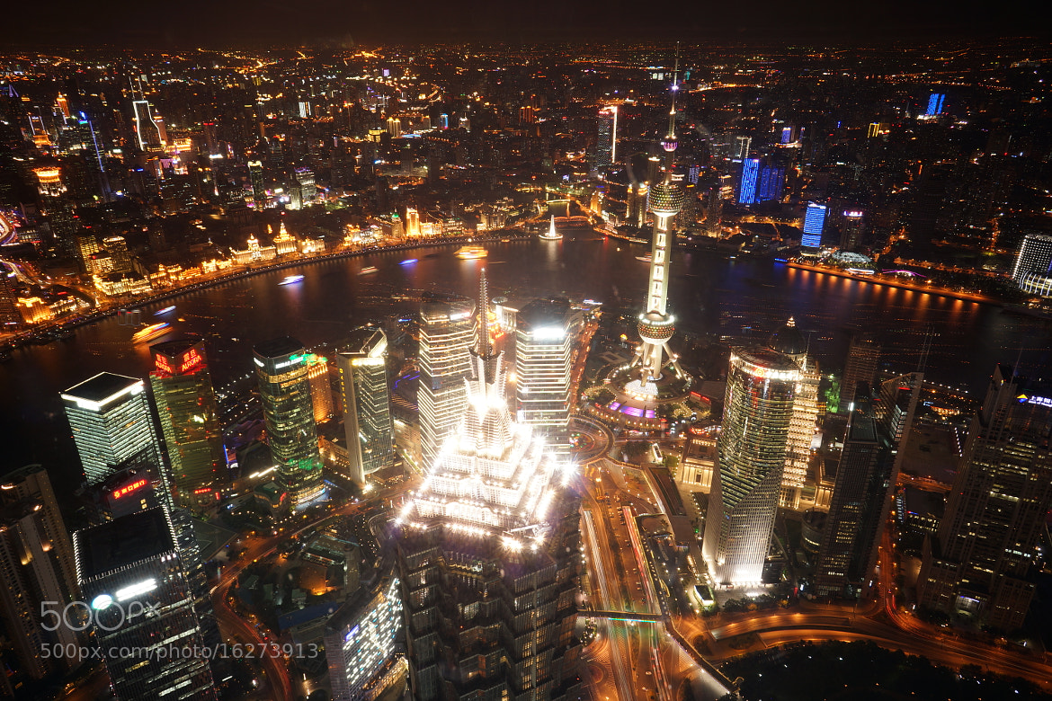 Photograph Night view of Shanghai Lujiazui 01 by jelly sheng on 500px