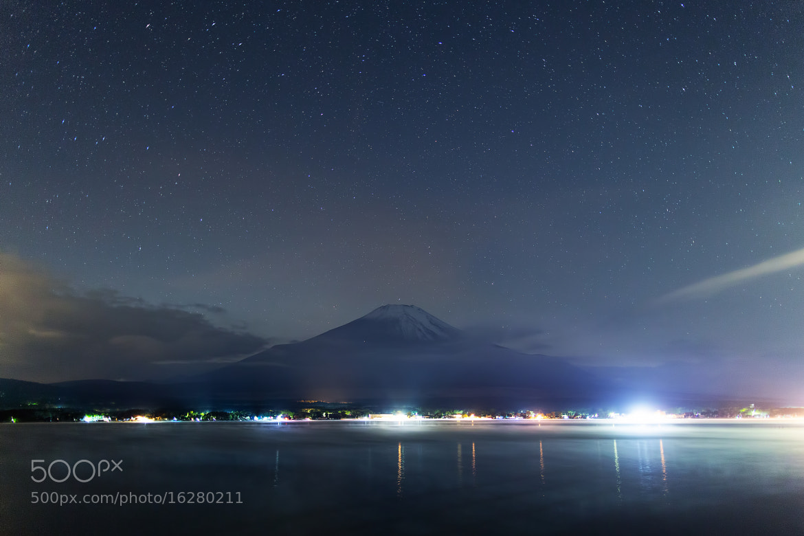 Photograph Snowy Mt.Fuji in the night by MIYAMOTO Y on 500px