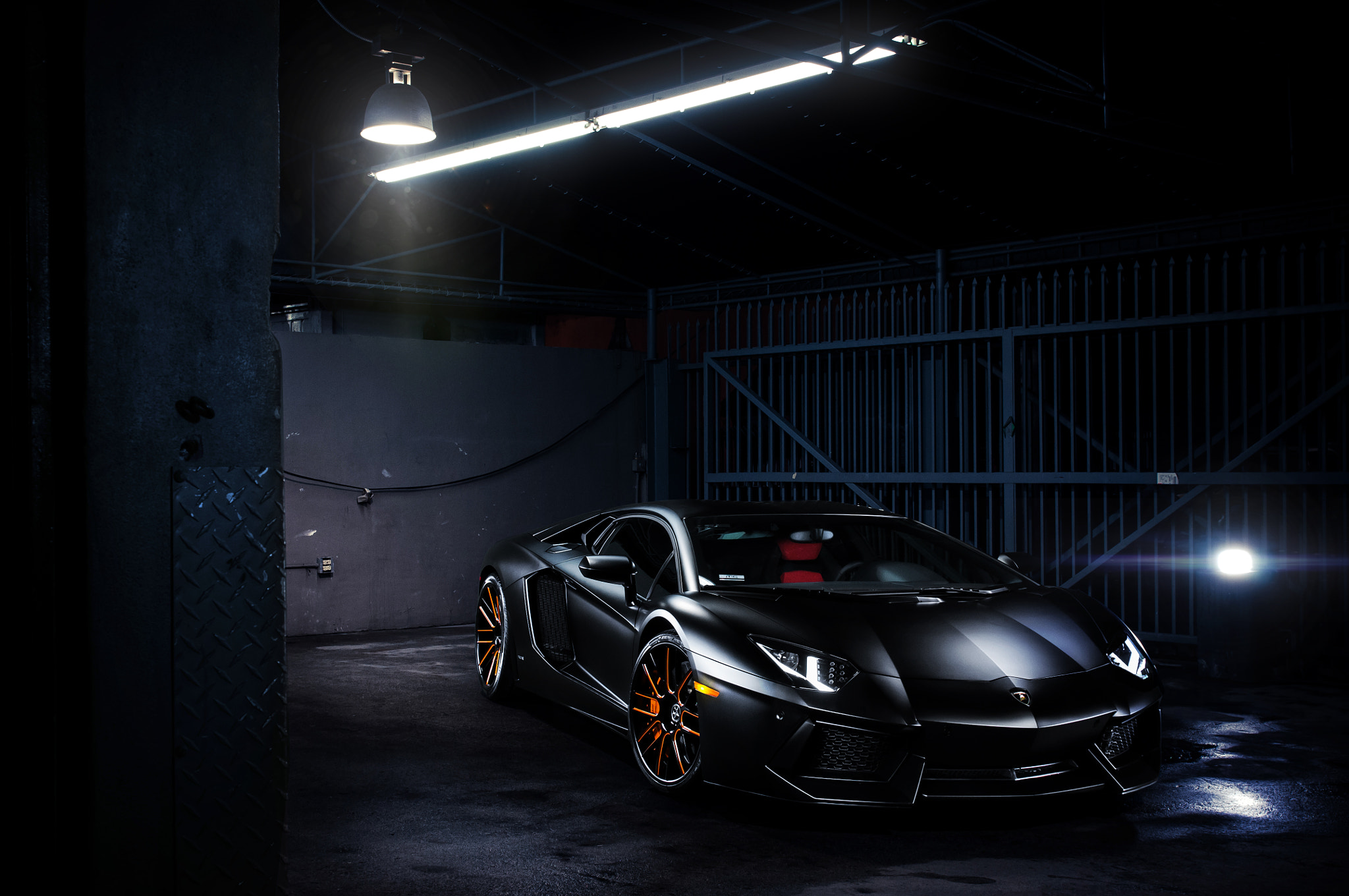 Photograph Matte Black Lamborghini Aventador by William Stern on 500px