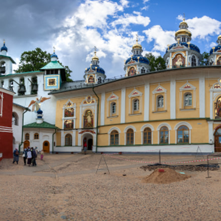 The Pskovo-Pechersky Dormition Monastery.