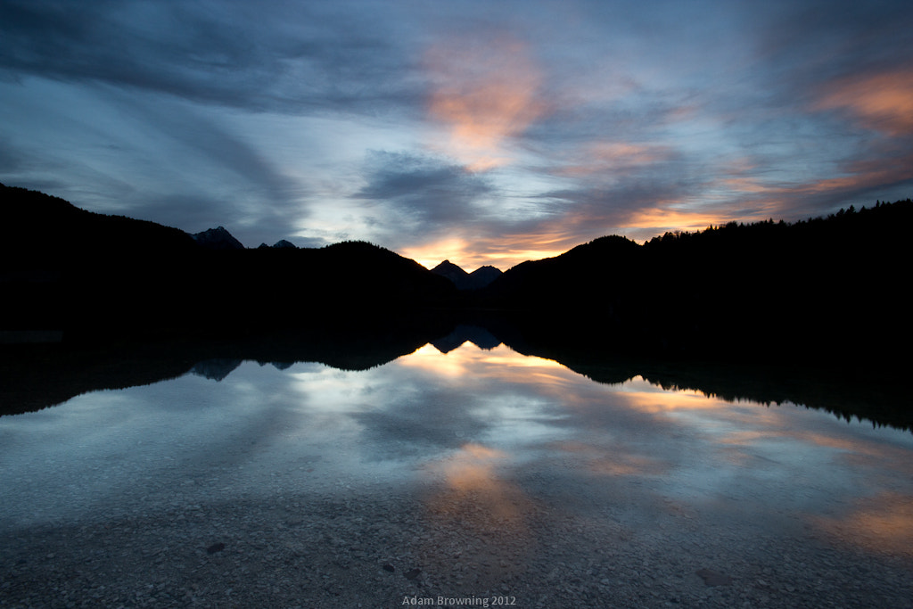 Photograph Sunset over Alpsee (Lighter) by Adam Browning on 500px