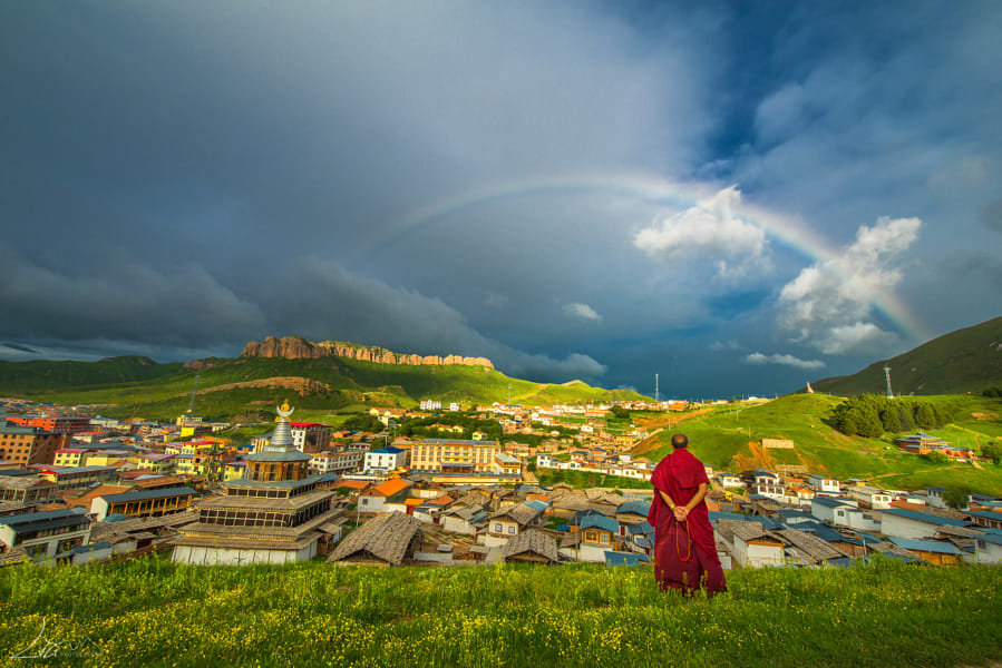 Rainbow and Buddhist by Janet Weldon on 500px