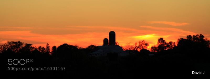 Photograph Farm Sunset by David Jesson on 500px