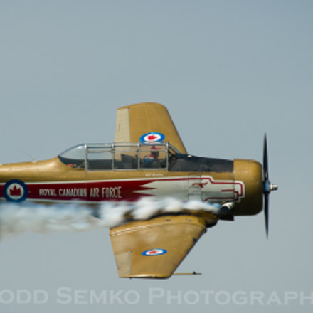 Bud Granley flying T-6 Harvard