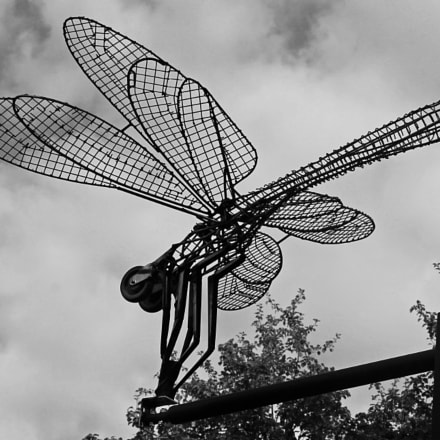 metal dragonfly, Canon EOS 1100D, EF-S55-250mm f/4-5.6 IS STM