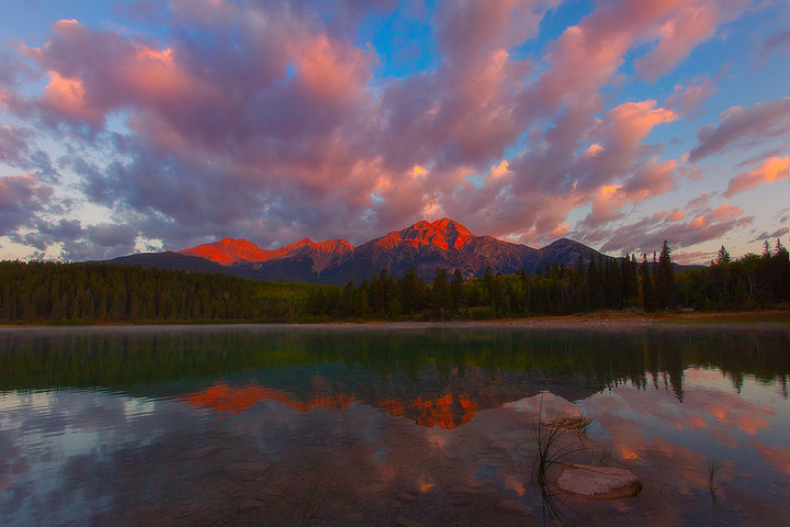 Photograph Pyramid Lake Sunrise - Jasper National Park by Kevin McNeal on 500px