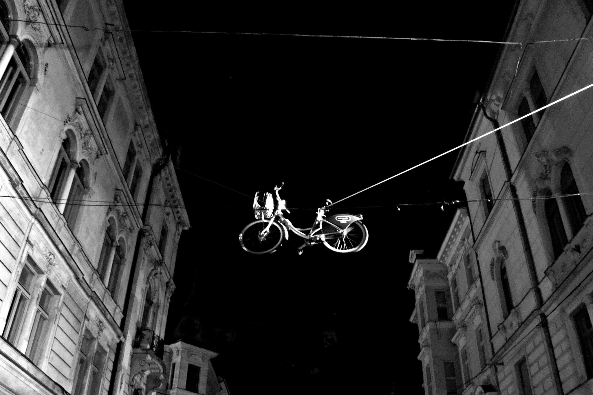 Photograph Bicycle On A Wire by Mojca Savicki on 500px