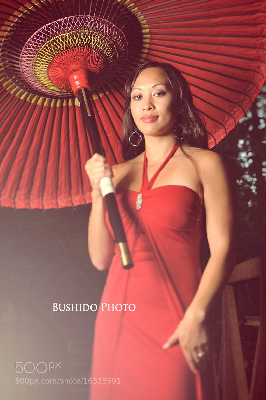 Photograph Sexy Japanese Umbrella Saleswoman by Chris Bergstrom on 500px