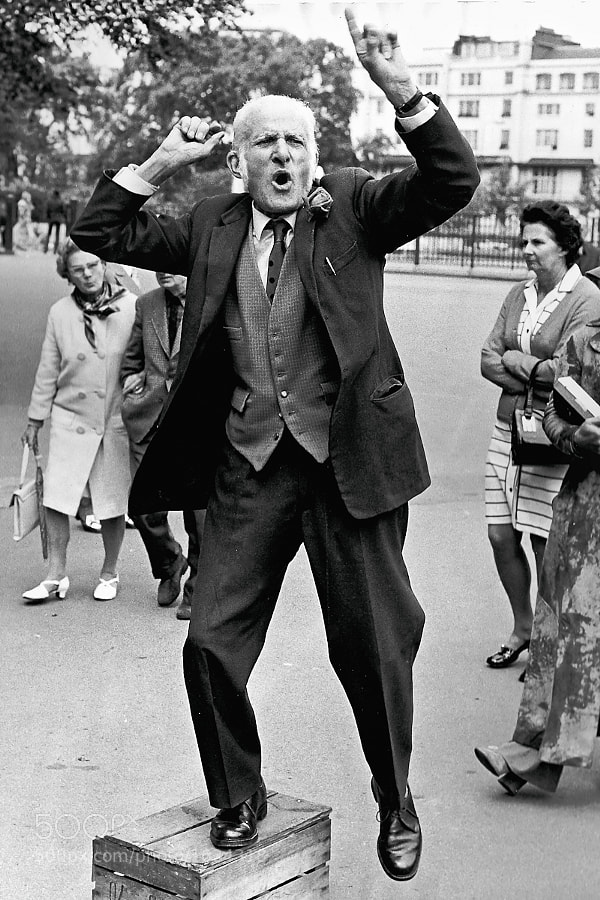 Taken at Speaker's Corner, London in 1972