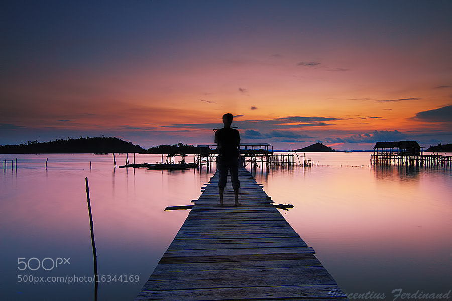 Photograph Enjoyed the Sunset by Vincentius Ferdinand on 500px