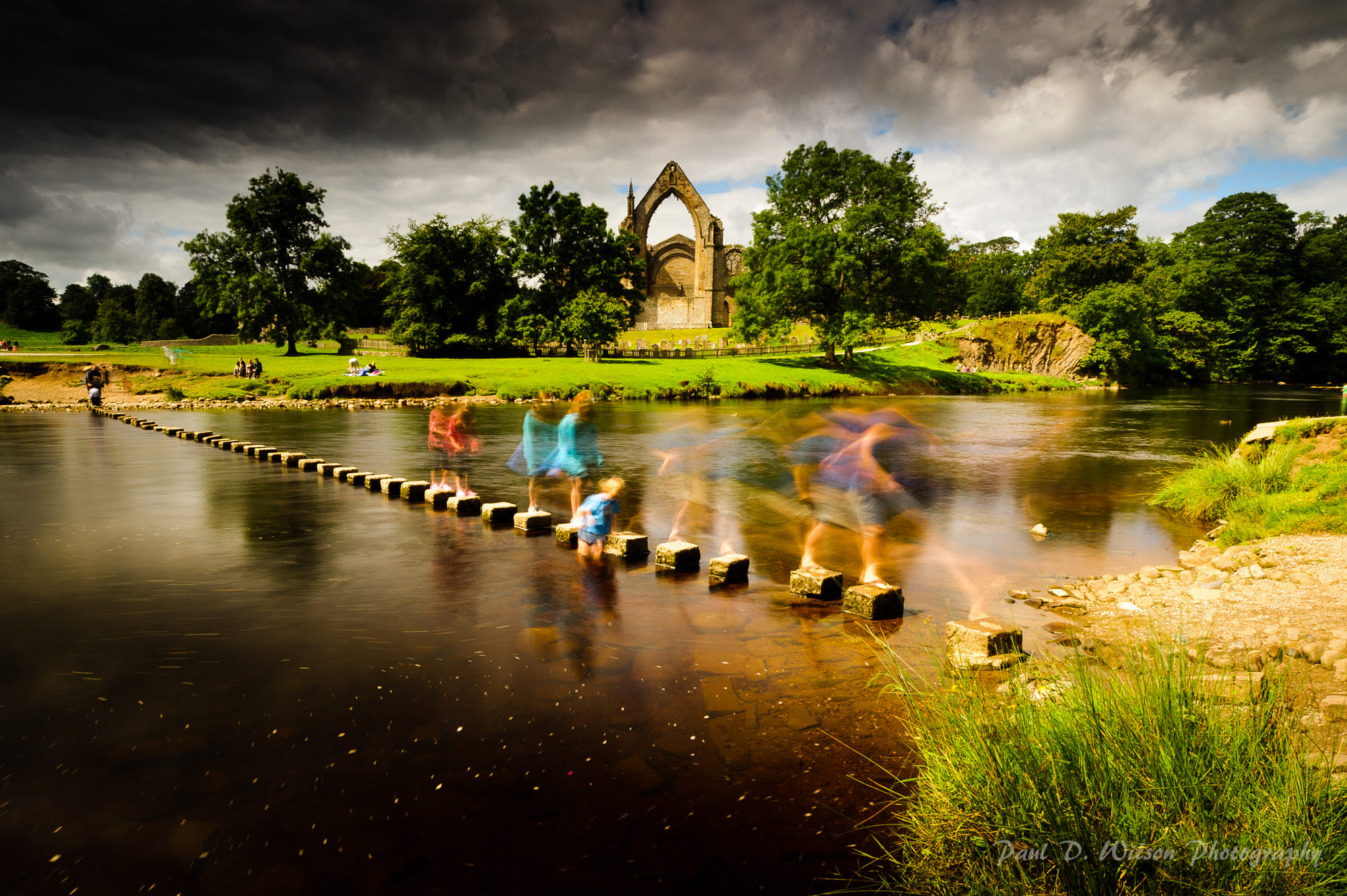 bolton abbey stepping stones by pd wilson photography