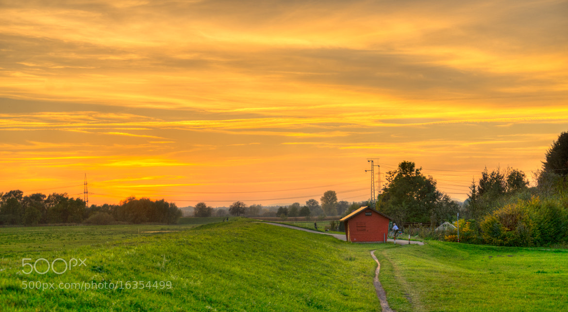 Photograph country side sunset by sumanshakya on 500px