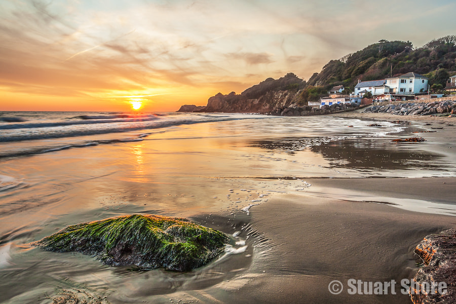 Photograph Sunset at Steephill Cove by Stuart Shore on 500px
