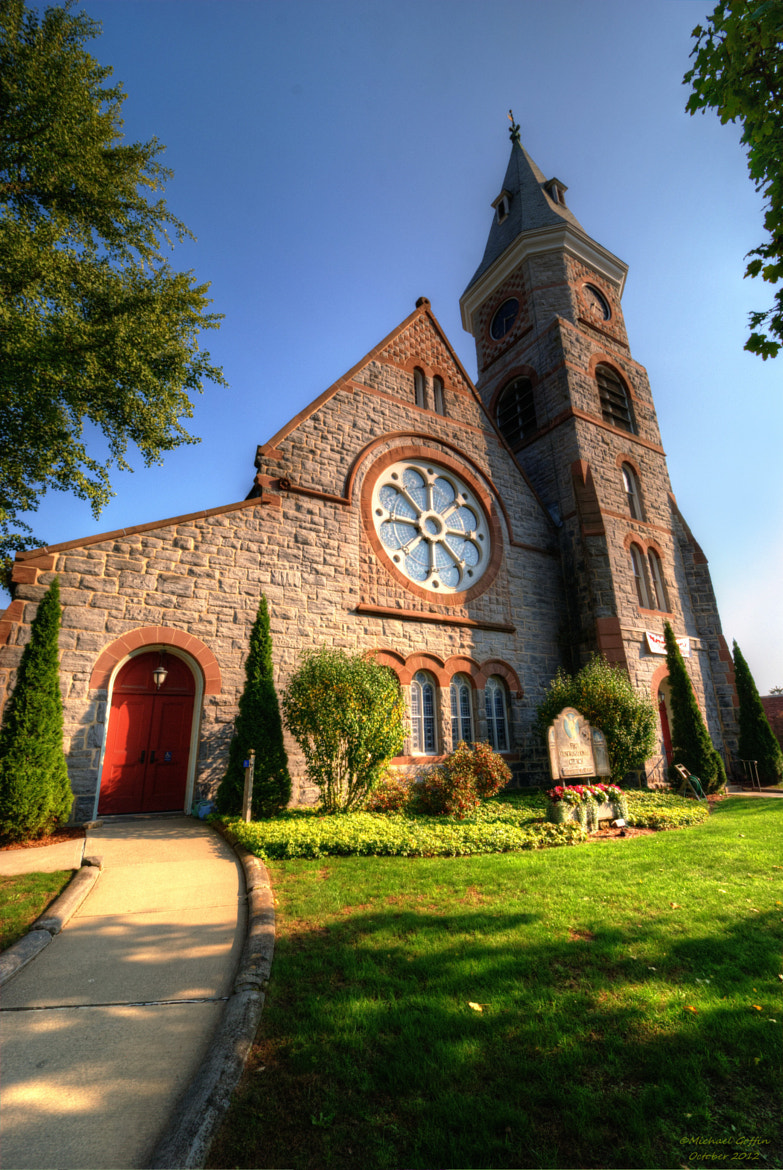 Photograph Sunlit Brown Stone Church by MICHAEL GOFFIN on 500px