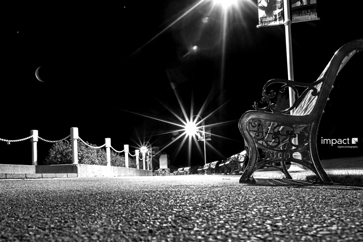 Photograph Nighttime Bench by Mike Thompson on 500px