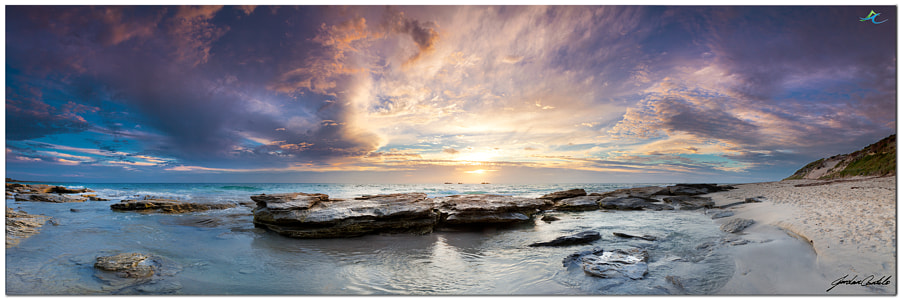 Photography is made that much easier when you have scenes like this before you.  The SW of Western Australia in my opinion has some of the best beaches in the world. Stunning sunsets like this, just compliment the already stunning landscape.  Details Canon 5d Mark II 24-105mm f4.0L IS USM + Lee Soft Grad ND Filters A: f11 T: 1/15 ISO: 100  Web: (New website coming) http://www.jordancantelo.com  Facebook : https://www.facebook.com/pages/Jordan-Cantelo-Photography/218896508186785?ref=hl  Twitter: @jordancantelo