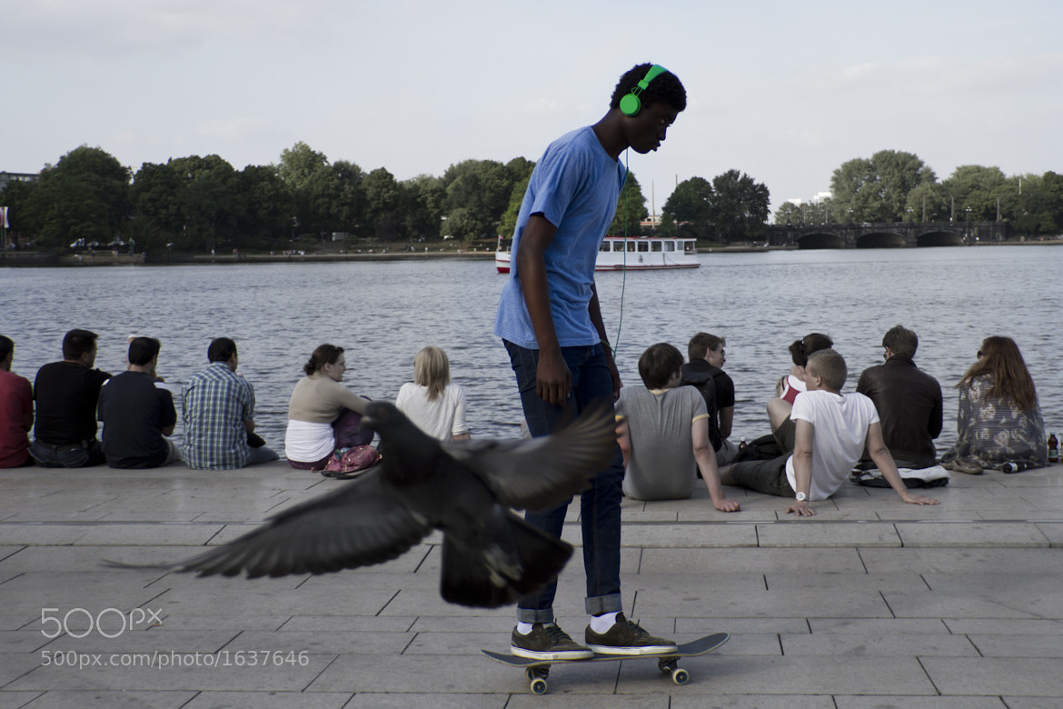 Photograph Skaterboy With Green Headphones by Marco Wahl on 500px