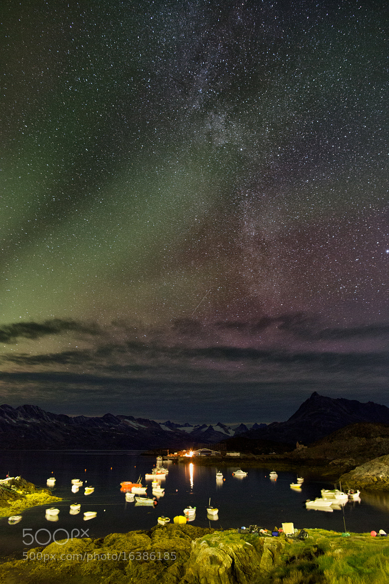 Photograph Aurora Rays and Milky Way  by Craig  Mann on 500px