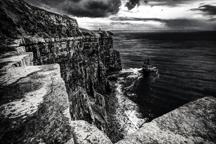 Cliffs of Moher in B&W