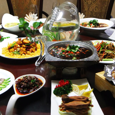 Banquet in Chinese style , Fujifilm FinePix REAL 3D W3