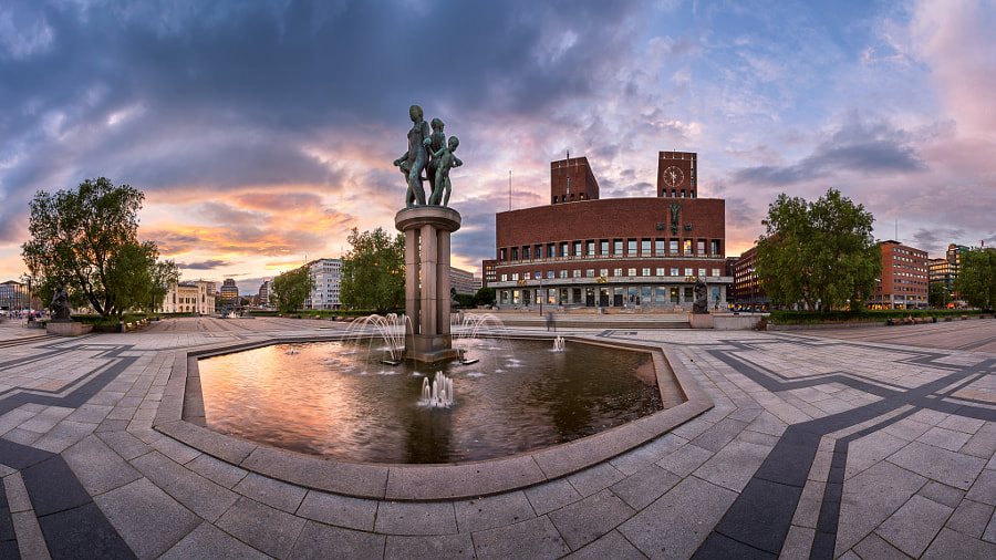 Panorama of Oslo City Hall by Andrey Omelyanchuk on 500px.com