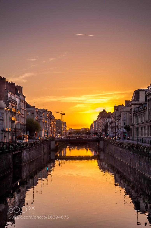 Photograph Coucher de soleil sur Rennes by Aurélien BEAUDET on 500px