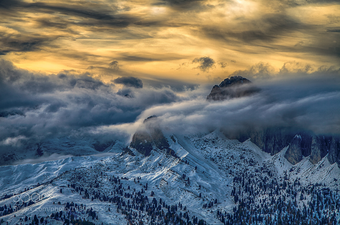 Photograph Orange evening Dolomites by Guenther Linder on 500px