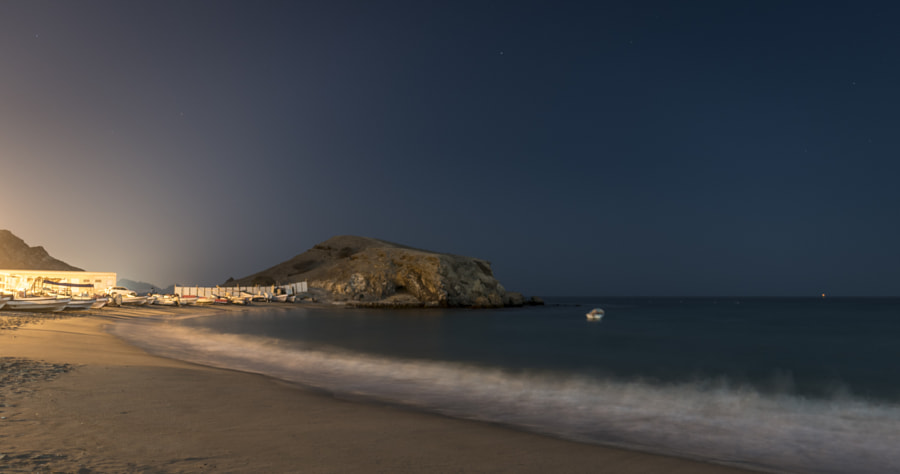 Chilling in the night on Yiti beach