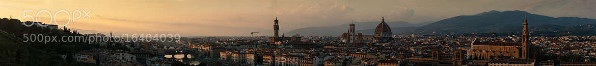Photograph A Panoramic sunset in Florence by Martin Balo on 500px
