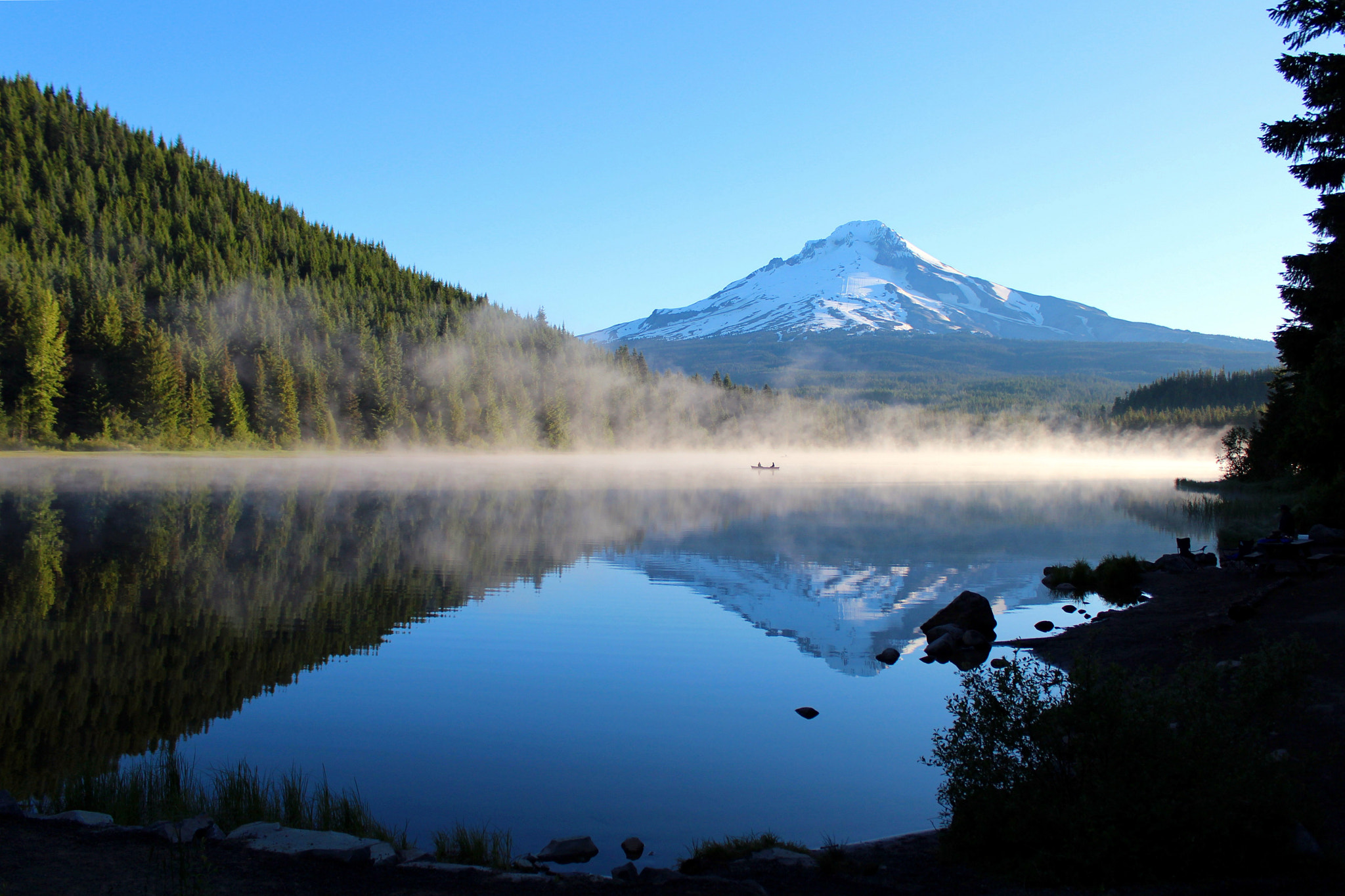 Photograph Morning Reflections on Trillium Lake by Cole Chase on 500px