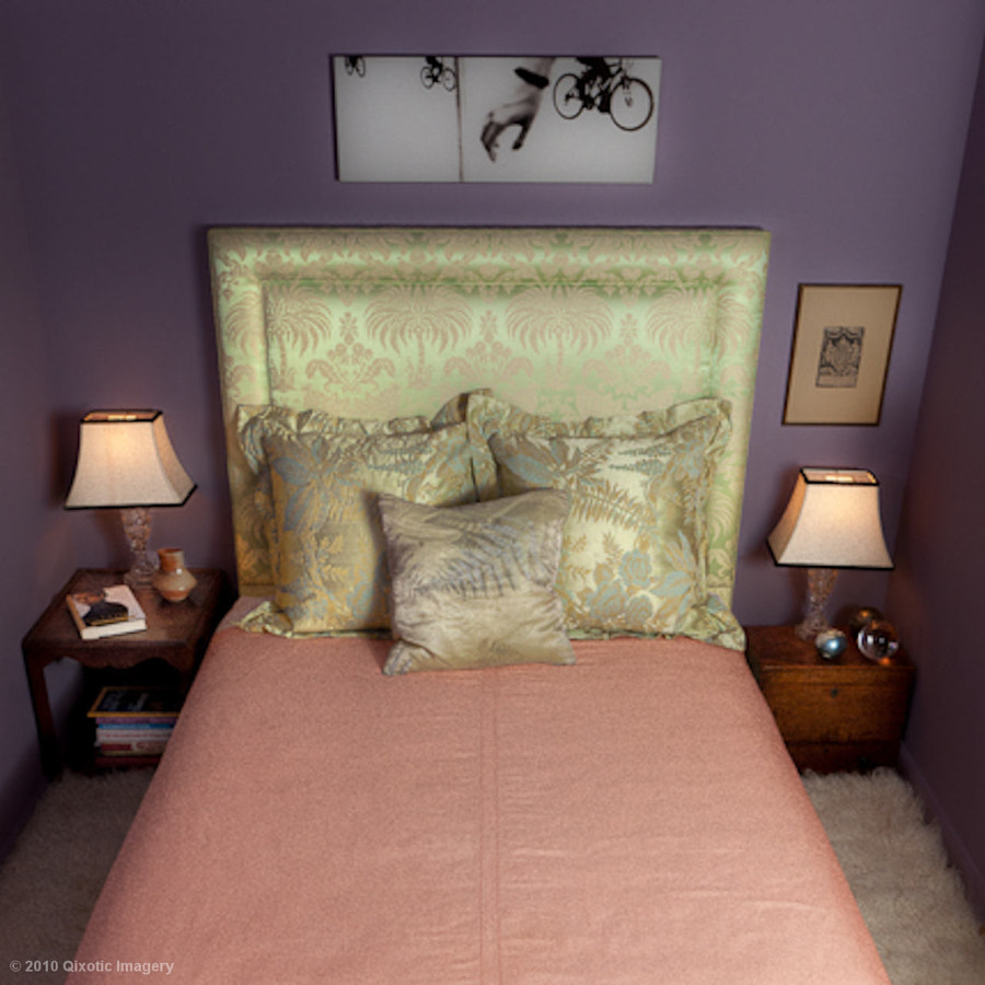 Cristina Hadzi's bedroom in her apartment in downtown NYC