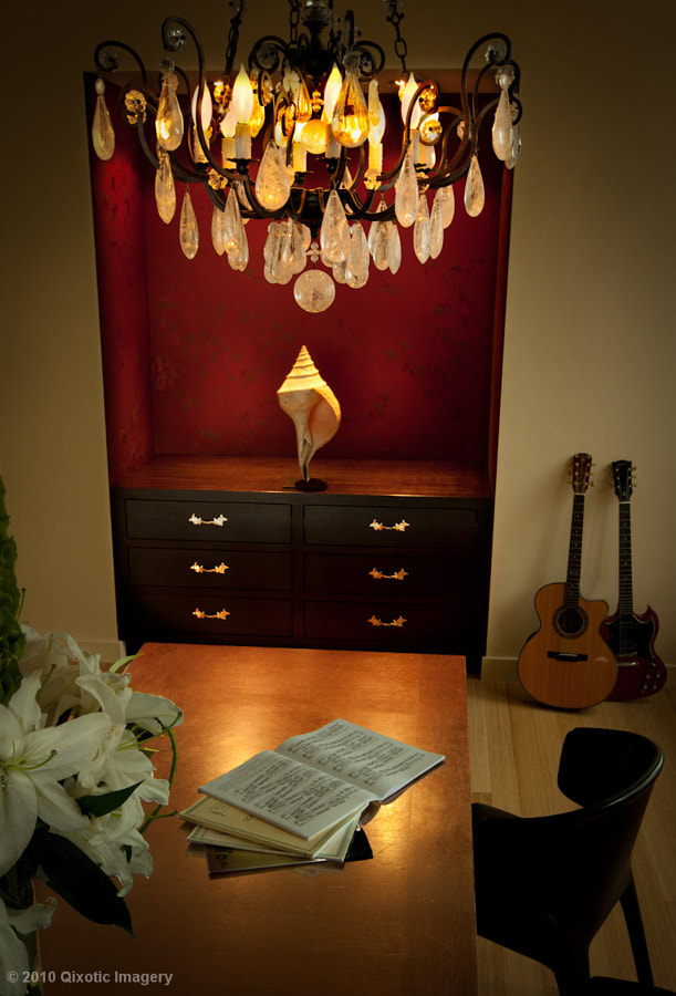 A dining room designed by Cristina Hadzi for a client in Liberty City, NYC