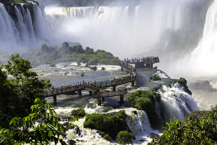 Iguazu falls in Brazil by Hugo Brizard on 500px.com