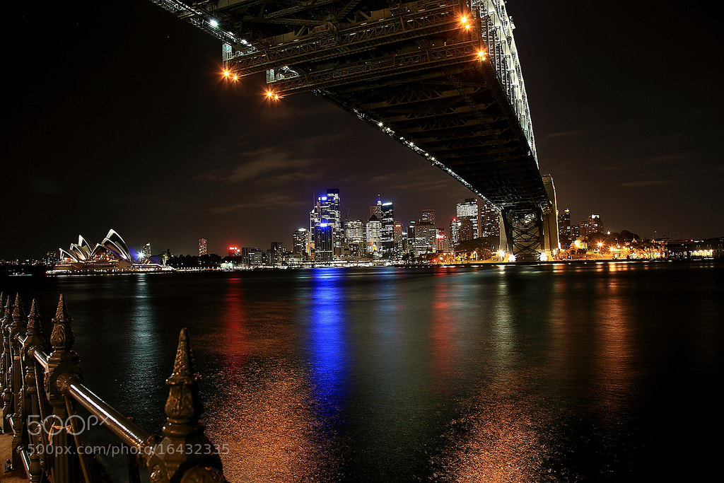 Photograph Sydney harbour at night by Alfes Ullah on 500px