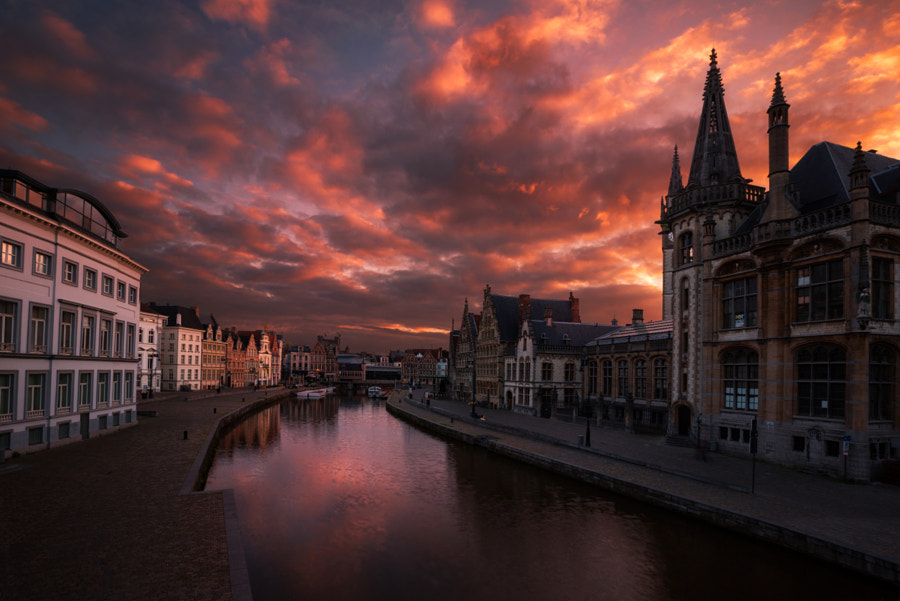 Sunrise over Gent by lhan Eroglu