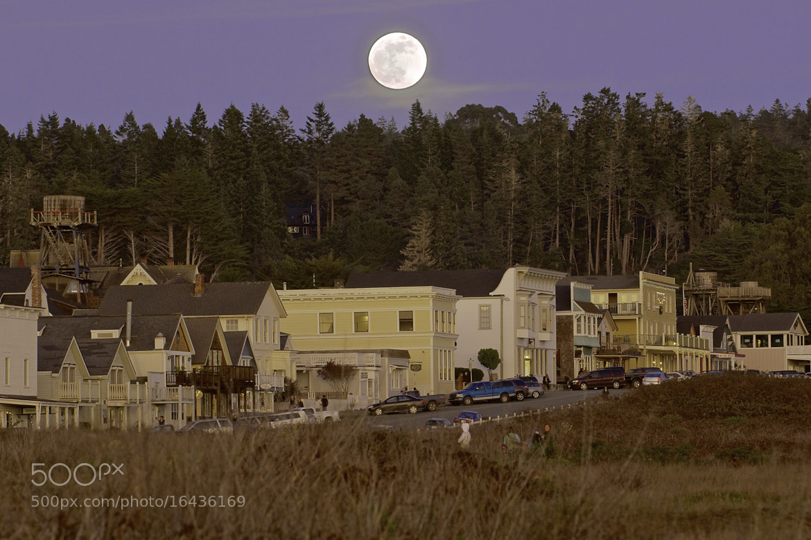 Photograph Moonrise Over Mendocino by George Gibbs on 500px