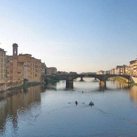 Arno River, Florence, Italy, Canon POWERSHOT SD450
